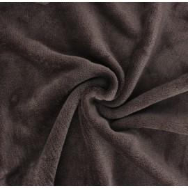 Tissu Doudou Tout Doux uni - cacao x 10 cm