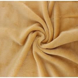 Plain flannel fleece fabric - honey Tout Doux x 10cm