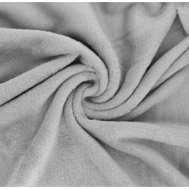 Plain flannel fleece fabric - mouse grey Tout Doux x 10cm