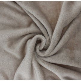 Plain flannel fleece fabric - grege Tout Doux x 10cm