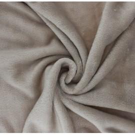 Tissu Doudou Tout Doux uni - grège x 10 cm