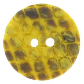 Round-shaped button with traces - yellow
