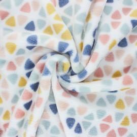 Flannel fleece fabric - white Ronni x 10cm