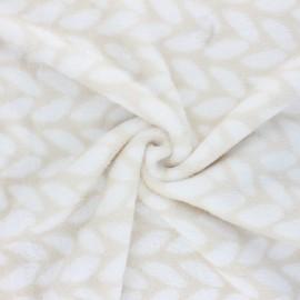 Tissu Doudou Doucette - beige x 10 cm