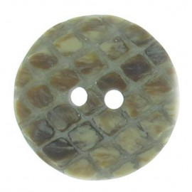 Round-shaped button with traces - grey
