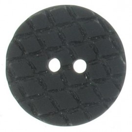 Round-shaped button with traces - black