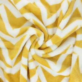 Flannel fleece fabric - mustard Stillo x 10cm