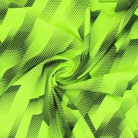 Sport Mesh fabric - neon yellow Athletic x 10cm