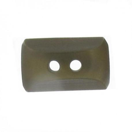 Button, mini rectangle - khaki