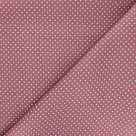 Poplin Cotton fabric - pink Little pois x 10cm