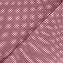 Tissu coton popeline Little pois - rose x 10cm