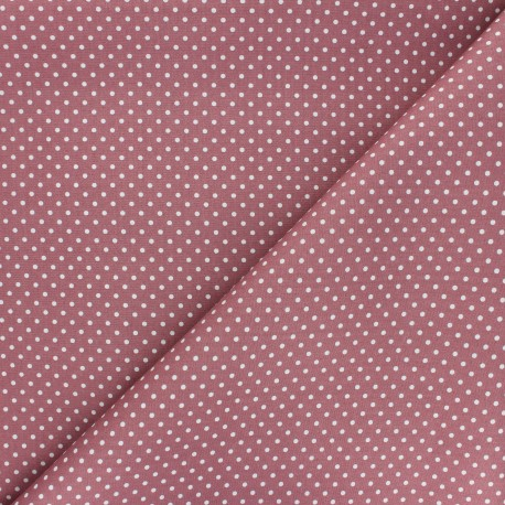 Poplin Cotton fabric - pink Little pois x 10cm