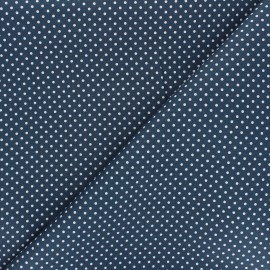Poplin Cotton fabric - swell blue Little pois x 10cm