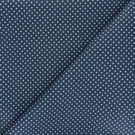 Poplin Cotton fabric - swell blue Little pois x 10cm