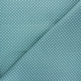 Poplin Cotton fabric - sarcelle Little pois x 10cm