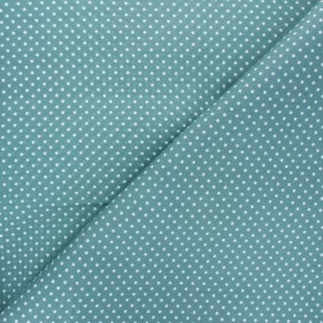 Poplin Cotton fabric - sarcelle Little pois x 10cm