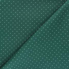 Tissu coton popeline Pisello - vert x 10cm