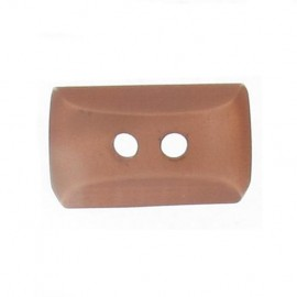 Button, mini rectangle - light brown