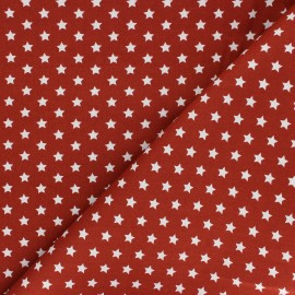 Tissu coton popeline Little étoile - tomette x 10cm