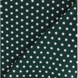Poplin Cotton fabric - dark green Little étoile x 10cm