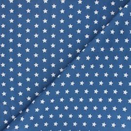 Tissu coton popeline Little étoile - bleu x 10cm