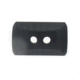 Button, mini rectangle - black