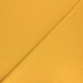 Tissu sweat molletonné uni - Jaune x 10cm
