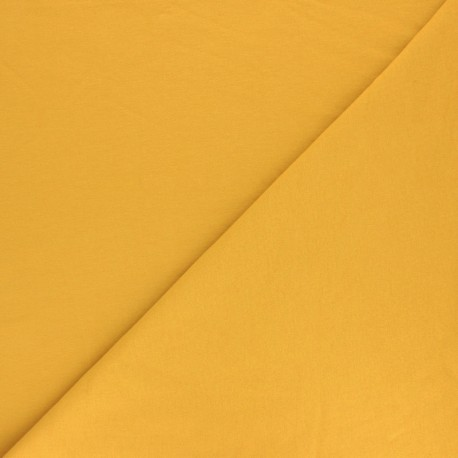Plain sweatshirt fabric - Pumpkin x 10cm