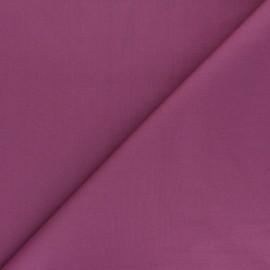 Tissu Popeline de coton uni Unicolor - figue x 10cm