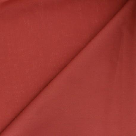 Tissu Popeline de coton uni Unicolor - terracotta x 10cm