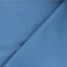 Tissu Popeline de coton uni Unicolor - bleu houle x 10cm