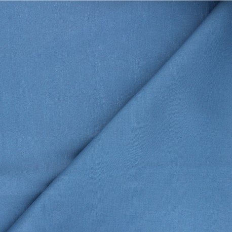 Plain cotton poplin fabric - swell blue Unicolor x 10cm