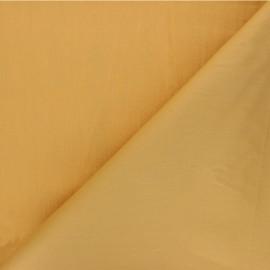 Plain cotton poplin fabric - yellow Unicolor x 10cm