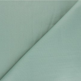 Tissu Popeline de coton uni Unicolor - vert sauge x 10cm