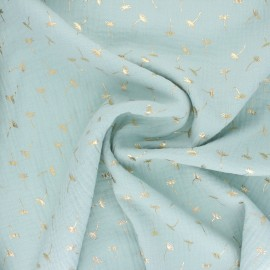 Double gauze fabric - light mint Golden Dandelion x 10cm