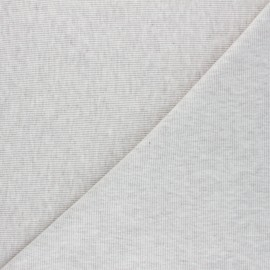 Mottled knitted Jersey 1/2 tubular edging fabric - beige x 10cm