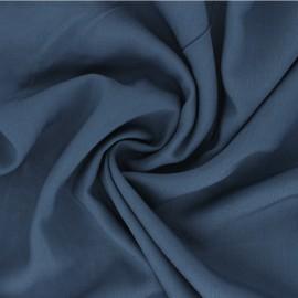 Tissu Viscose uni Intemporel - bleu houle x 10cm