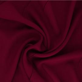 Plain Viscose fabric - carmine red Intemporel x 10cm