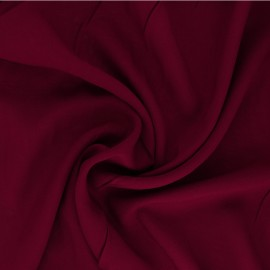 Tissu Viscose uni Intemporel - rouge carmin x 10cm