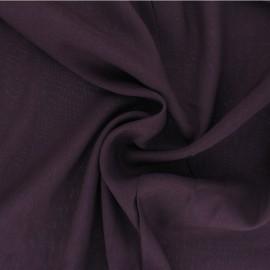 Plain Viscose fabric - purple Intemporel x 10cm