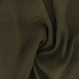 Plain Viscose fabric - khaki green Intemporel x 10cm