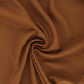 Plain Viscose fabric - ochre Intemporel x 10cm