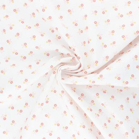 Poppy cotton fabric - white Sweet Flowers x 10cm