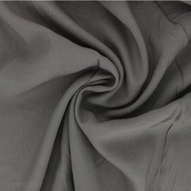 Plain Viscose fabric - taupe grey Intemporel x 10cm