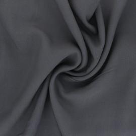 Plain Viscose fabric - grey Intemporel x 10cm