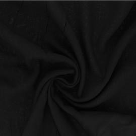 Tissu Viscose uni Intemporel - noir x 10cm