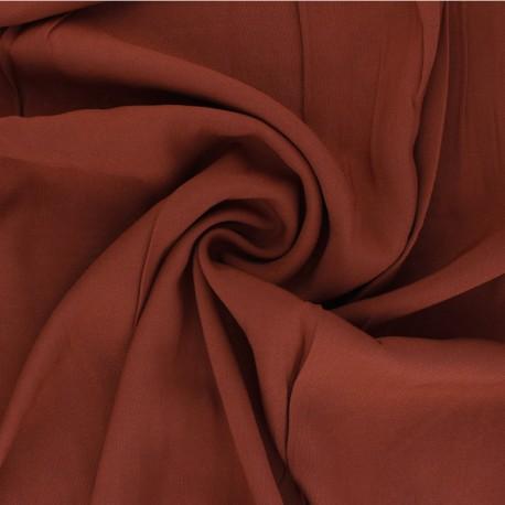 Tissu Viscose uni Intemporel - rouille x 10cm
