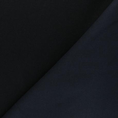 Tissu sweat Comfy - bleu marine x 10cm