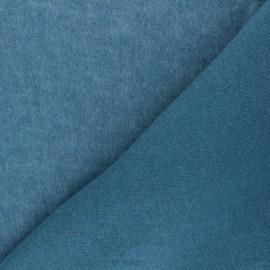 Tissu sweat Comfy - bleu canard x 10cm