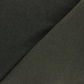 Sweatshirt fabric - khaki green Comfy x 10cm